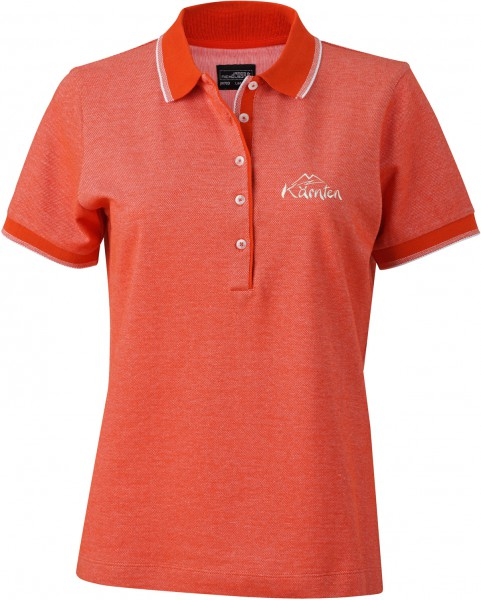 Damen Polo Pique Bi Color